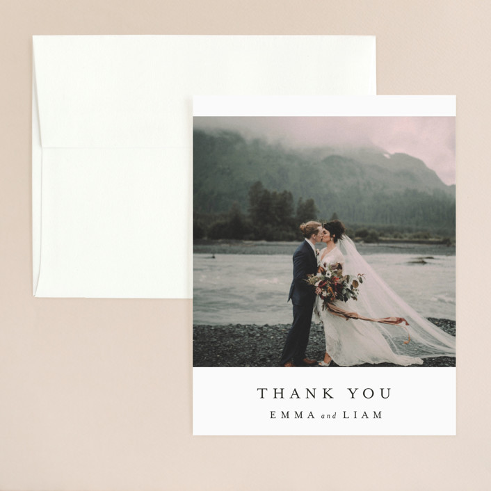 """""""A Thousand Years"""" - Thank You Card in Classic White by Design Lotus."""