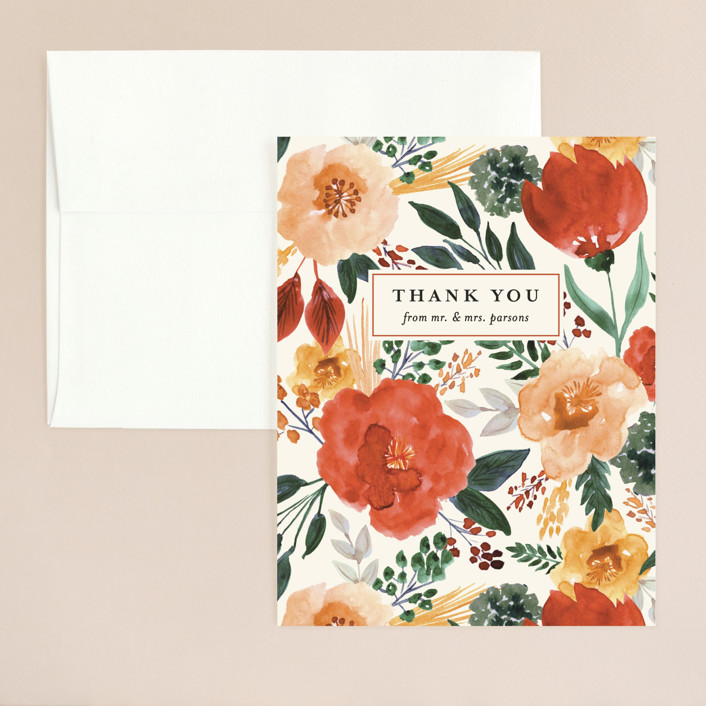 """Flourishing"" - Thank You Card in Bloom by Beth Schneider."
