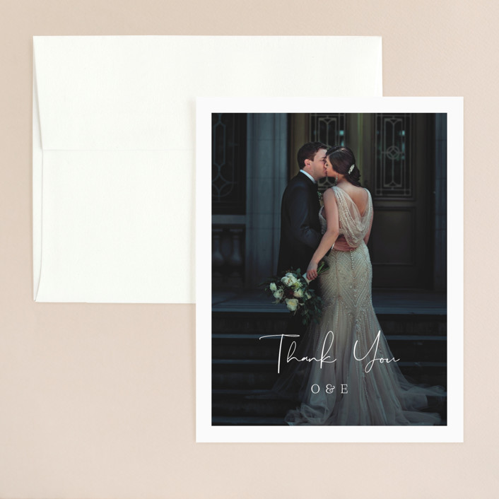 """In Love"" - Thank You Card in Ink by Carolyn MacLaren."