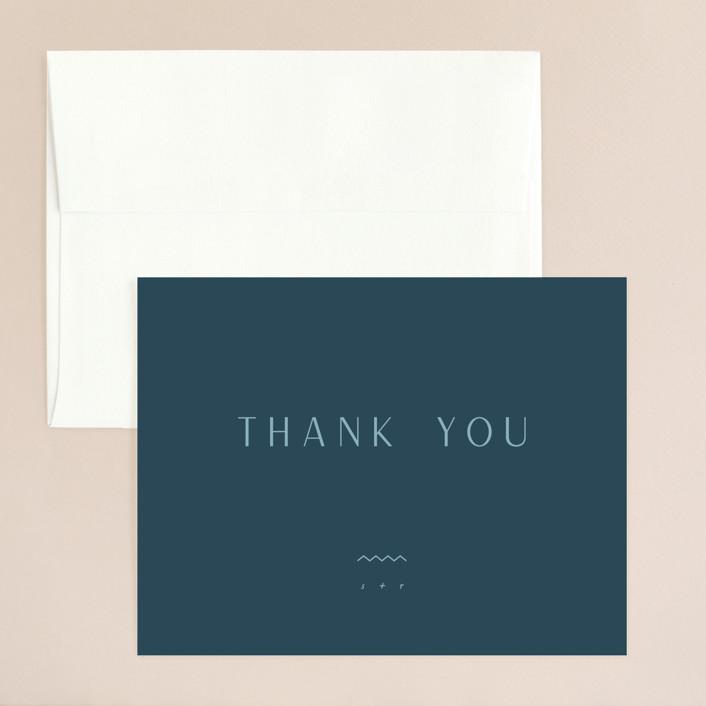 """Adora"" - Thank You Card in Dawn by Leah Bisch."