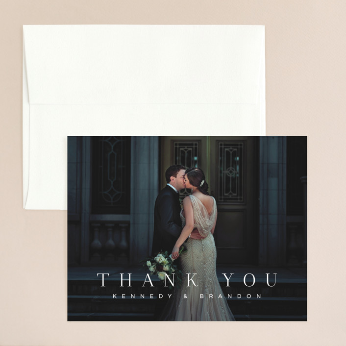 """The Space Between"" - Thank You Card in Sugar by Jessica Williams."