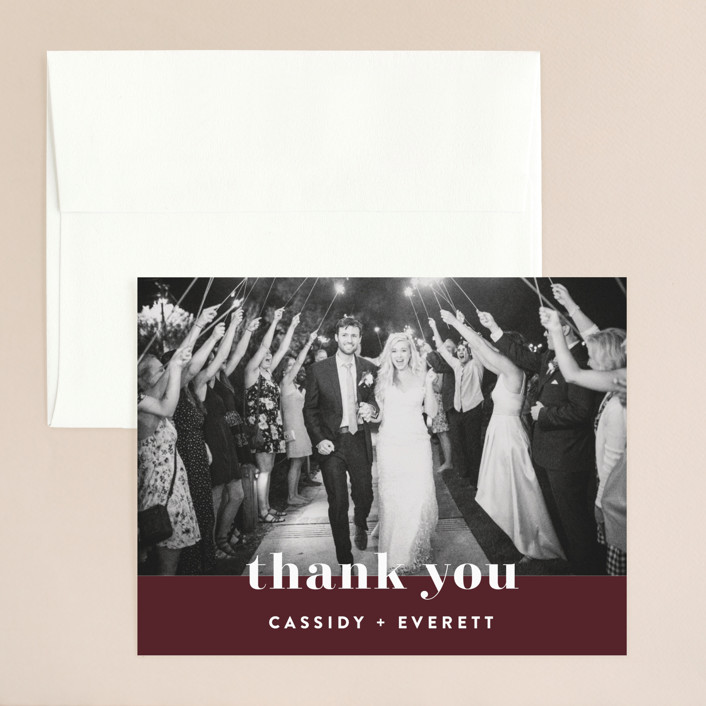 """""""Key Ingredients"""" - Thank You Card in Cotton by Christie Garcia."""