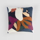 This is a purple pillow cover by Amina Taylor called When Frankie Met Flora.