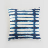 This is a blue pillow cover by Creo Study called Shibori lines.