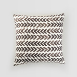 This is a black and white pillow cover by Psychae called Black geometry.