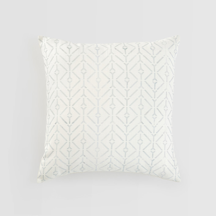 Coastal Textured Cotton Pillow Cover