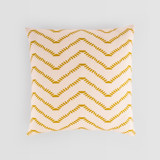 This is a yellow pillow cover by Tanya Lee Design called Ziggy Blush.