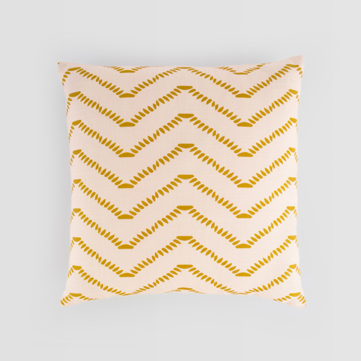 Ziggy Blush Textured Cotton Pillow Cover