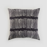 This is a black pillow cover by Tanya Lee Design called Matchstick Black.