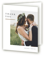 This is a beige wedding thank you card by Kelly Schmidt called Clean and Modern with foil-pressed printing on signature in standard.