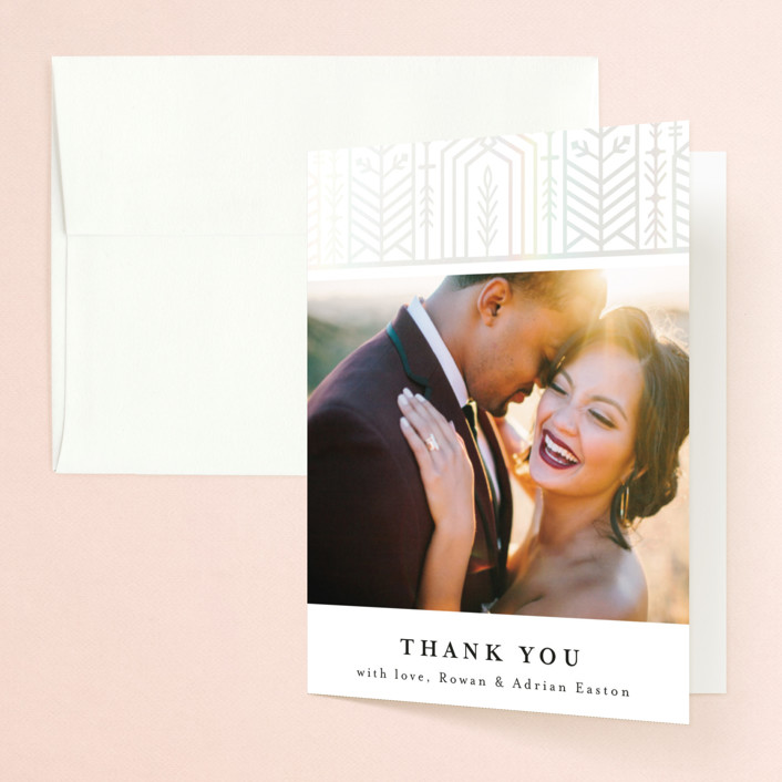 """ALEXA"" - Vintage Gloss-press™ Thank You Cards in Nude by Melanie Kosuge."