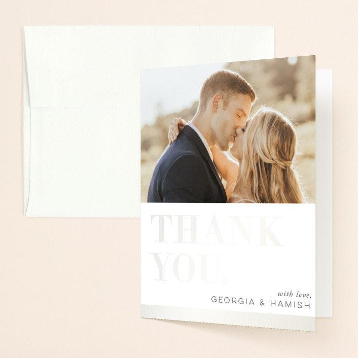 """Basically"" - Gloss-press™ Thank You Cards in Cloud by 2birdstone."