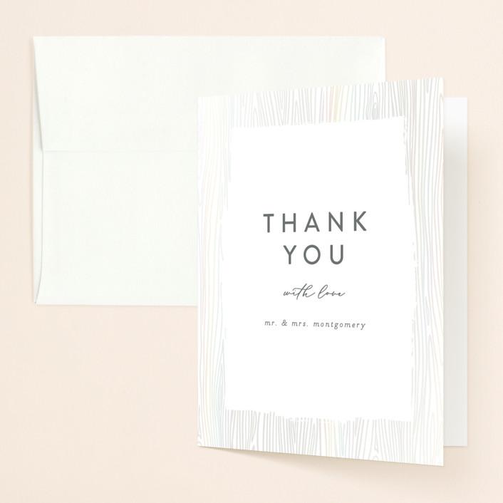 """White Oak"" - Vintage Gloss-press™ Thank You Cards in Cloud by Erica Krystek."