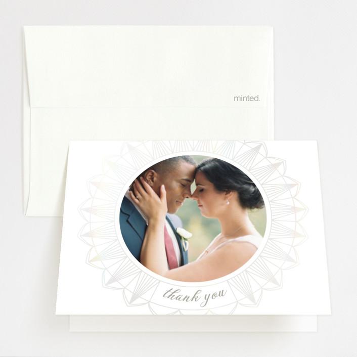 """mandala"" - Gloss-press™ Thank You Cards in Porcelain by Char-Lynn Griffiths."