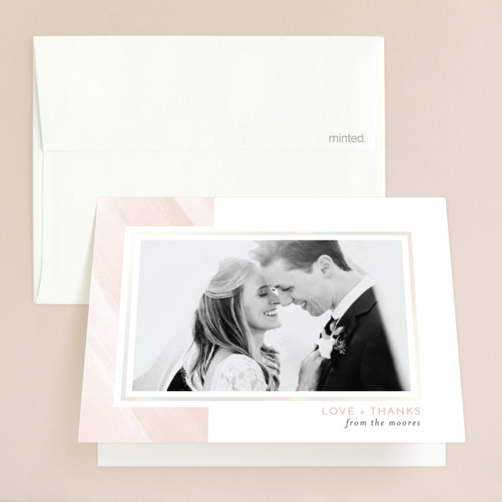 """""""Love Never Fails"""" - Gloss-press™ Thank You Cards in Blush by Heather Cairl."""
