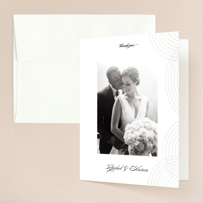 """""""Bespeckle"""" - Gloss-press™ Thank You Cards in Pearl by Benita Crandall."""