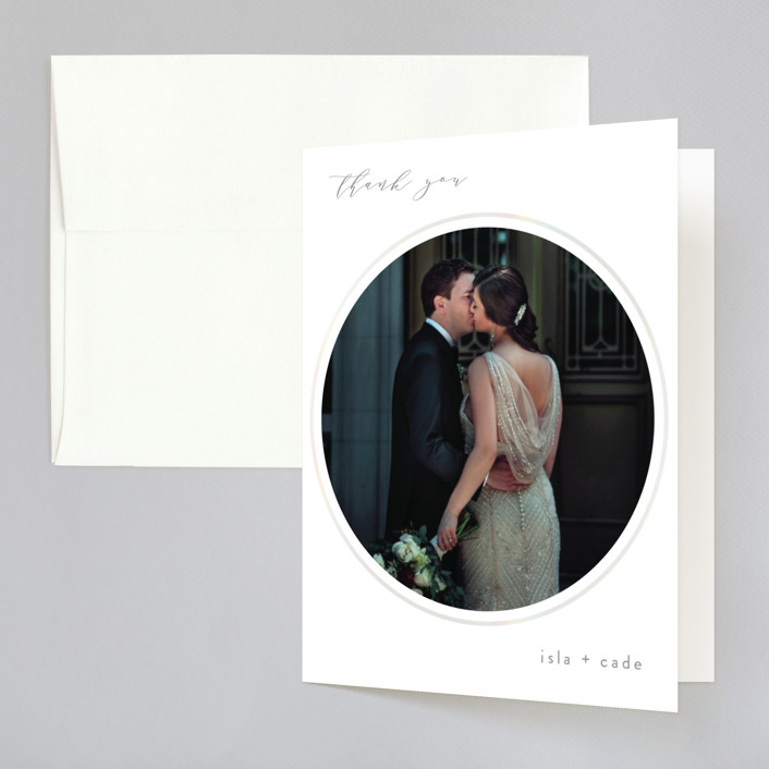 """opalescent"" - Modern Gloss-press™ Thank You Cards in Opal by Angela Thompson."
