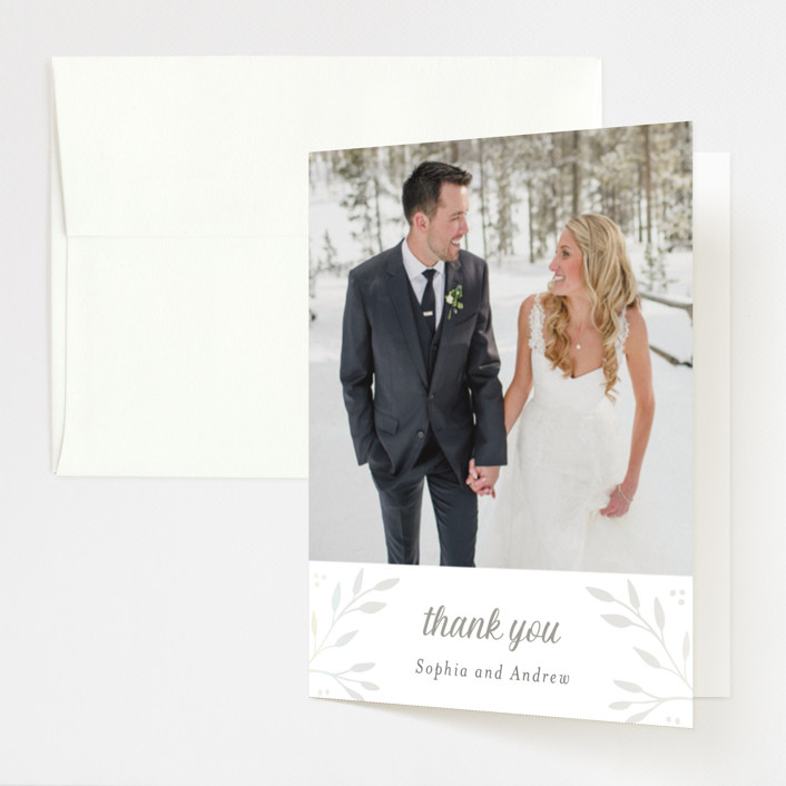 """Vineyard"" - Vintage Gloss-press™ Thank You Cards in Lace by Tennie and Co.."