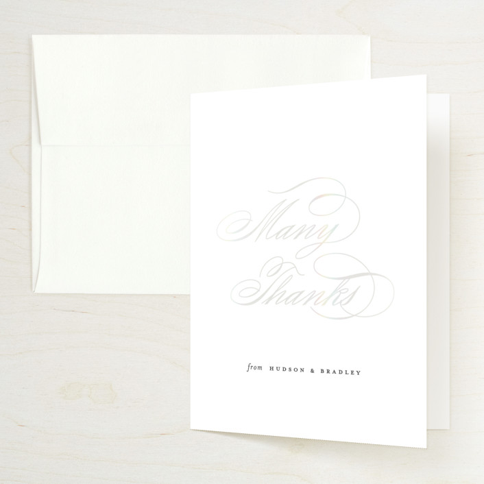 """""""Gala"""" - Vintage Gloss-press® Thank You Cards in Opal by Ashley DeMeyere."""