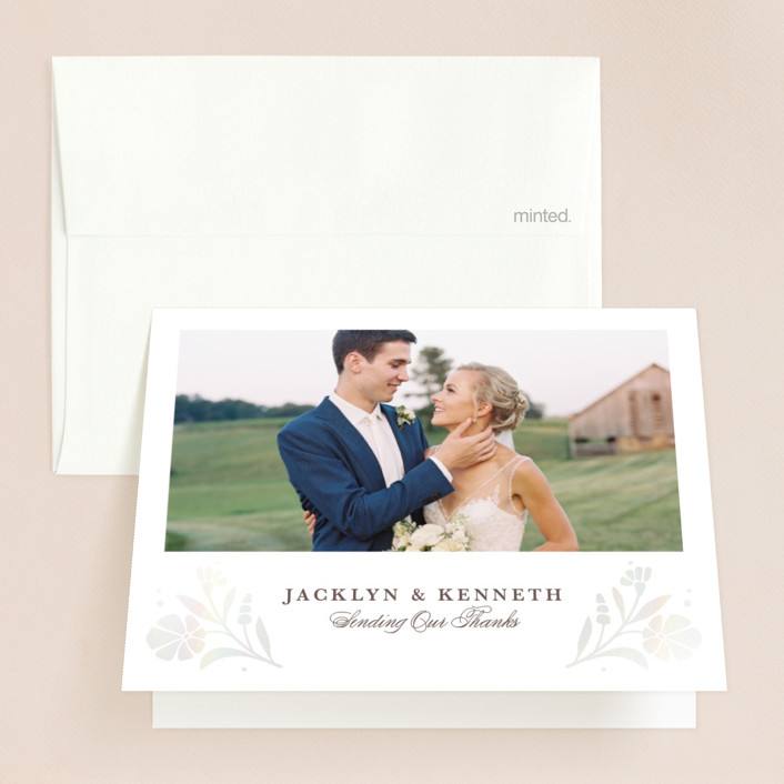 """""""Jasmine"""" - Gloss-press™ Thank You Cards in Shimmer by Kristen Smith."""