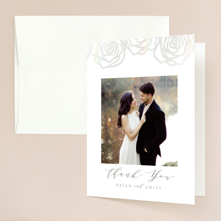 """Rose Box"" - Gloss-press™ Thank You Cards in Natural by Melinda Denison."