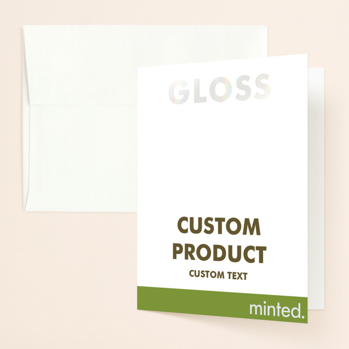 """Landscape"" - Gloss-press™ Thank You Cards in Iridescent Pearl by Minted Custom."