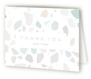 This is a grey wedding thank you card by silverscreen studio called love. with gloss-press printing on strathmore in standard.