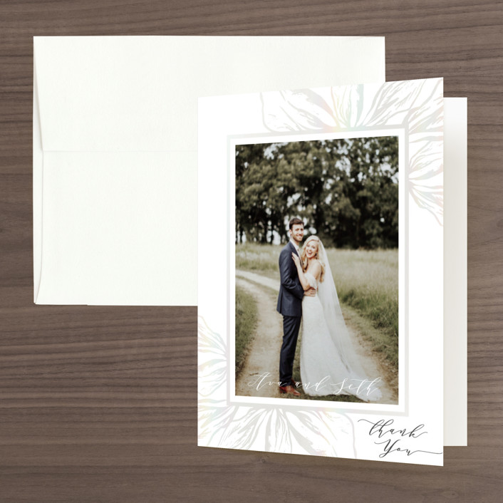 """""""Forevermore"""" - Gloss-press™ Thank You Cards in Champagne by Melinda Denison."""
