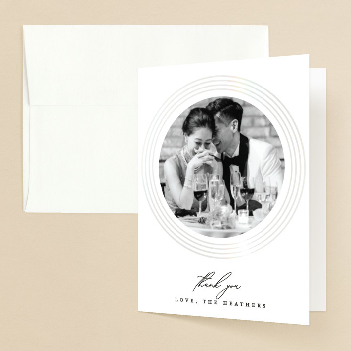 """""""gloss rings"""" - Modern Gloss-press® Thank You Cards in Quartz by Roxanne Fay."""