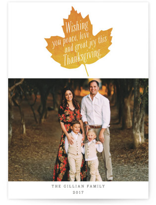 Fall Foliage Thanksgiving Petite Cards
