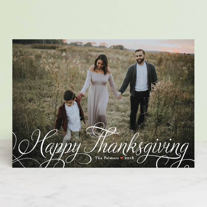 """""""Classic Merry"""" - Thanksgiving Petite Cards in Cloud by Alston Wise."""
