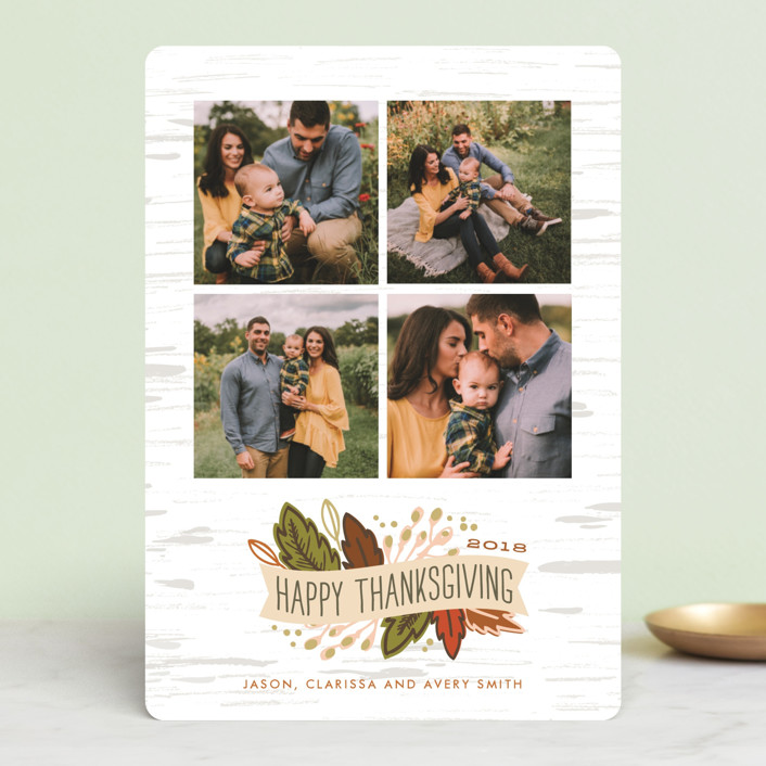 """Birch Thanksgiving"" - Thanksgiving Petite Cards in Pumpkin by Alethea and Ruth."