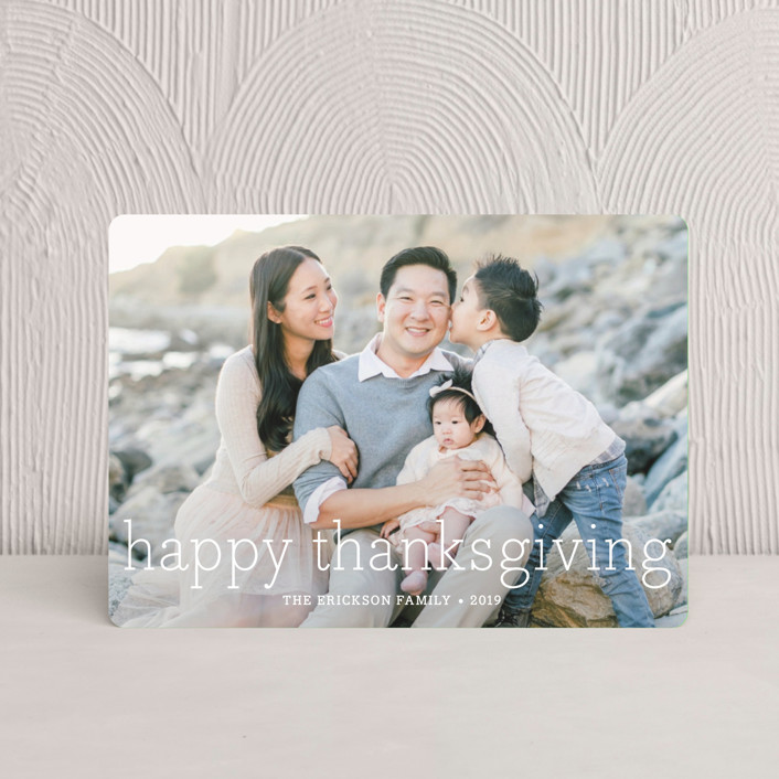 """""""Happy Everything"""" - Thanksgiving Petite Cards in White by annie clark."""