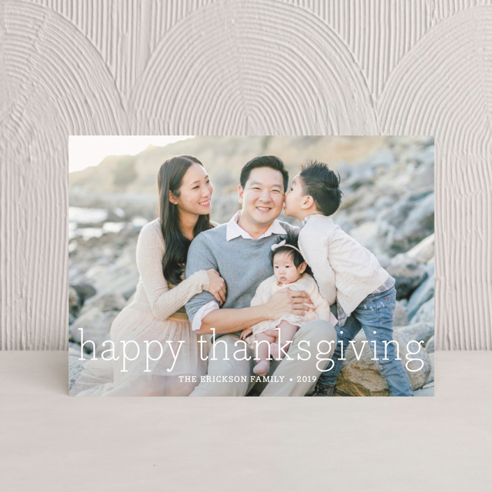 """""""Happy Everything"""" - Thanksgiving Petite Cards in Cloud by annie clark."""