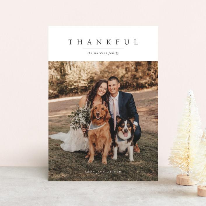 """Minimal Joy"" - Thanksgiving Petite Cards in Coal by Nikkol Christiansen."