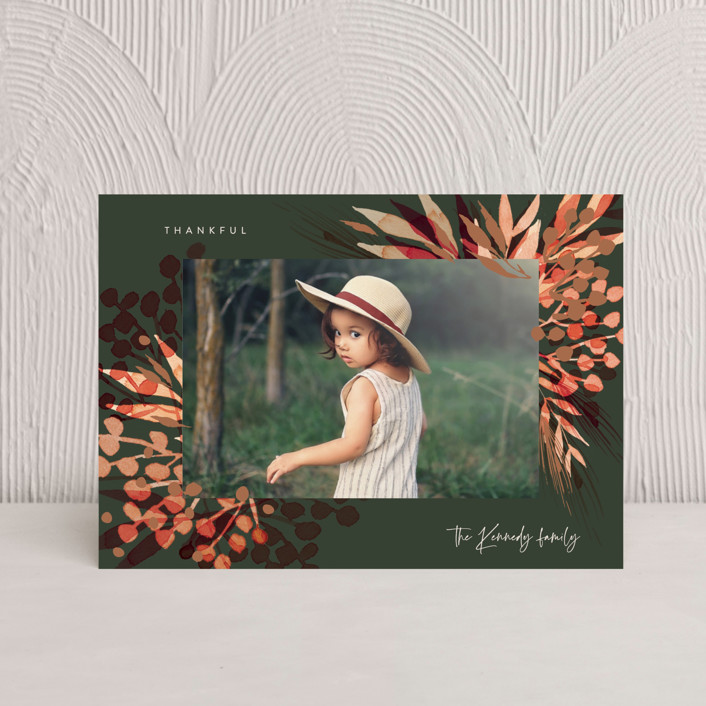 """""""Magical Holiday"""" - Thanksgiving Petite Cards in Forest by frau brandt."""