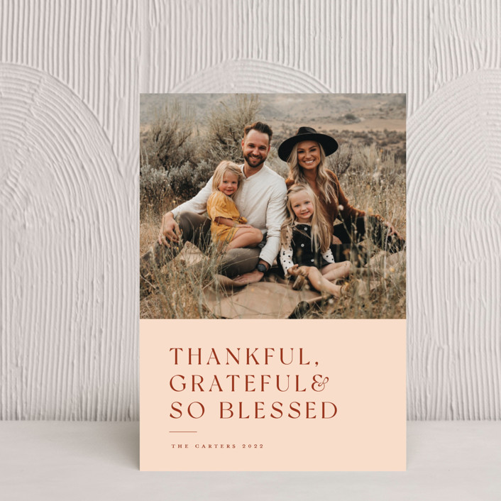"""""""Thankful Grateful Blessed"""" - Thanksgiving Petite Cards in Spice by Sandra Picco Design."""