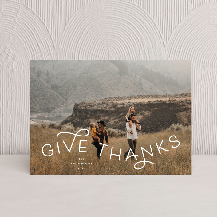 """""""Give Thanks Modern"""" - Thanksgiving Petite Cards in Powder by Kristel Torralba."""