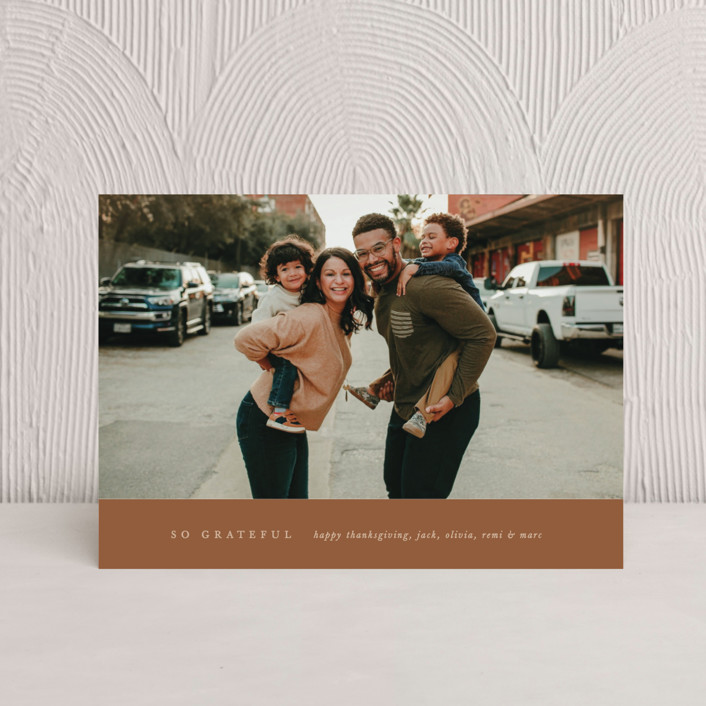 """""""Remi"""" - Thanksgiving Petite Cards in Caramel by Blustery August."""