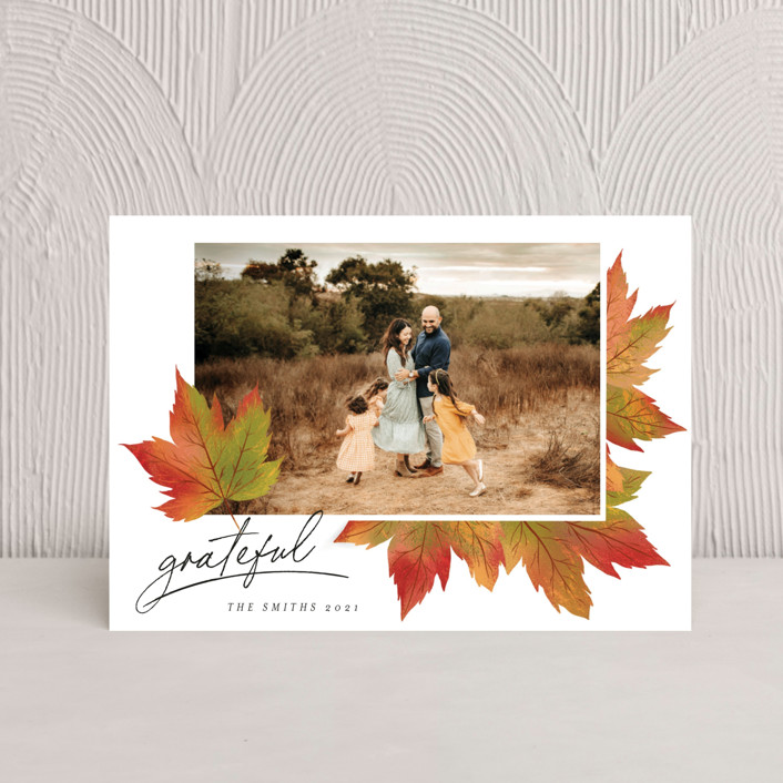 """""""Maple Lovers"""" - Thanksgiving Petite Cards in Autumn by Grae."""
