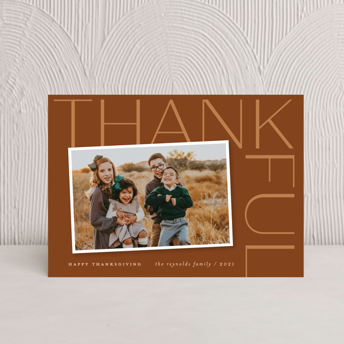 """""""Thankful Sentiment"""" - Thanksgiving Petite Cards in Nutmeg by Sandra Picco Design."""