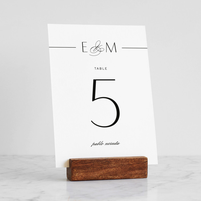 Wood Block Place Card Holders