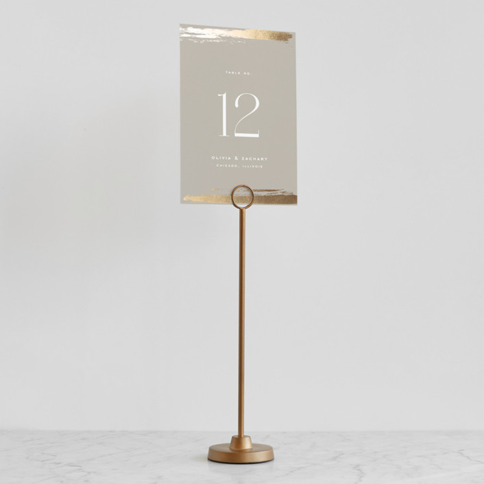 Brass Round Place Card Holders