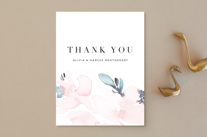 """Florista Modernista"" - Thank You Postcards in Azalea by Petra Kern."