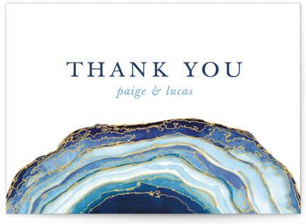 Gilt Agate Thank You Postcards