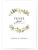 This is a pink thank you postcard by Jennifer Wick called Longwood Estates printing on signature in postcard.