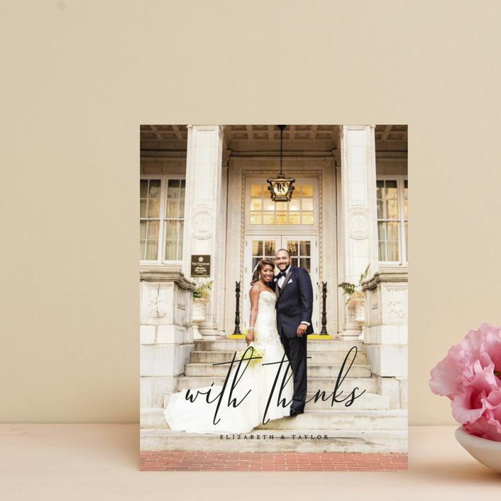 """Desire"" - Thank You Postcards in Tuxedo by Jennifer Postorino."