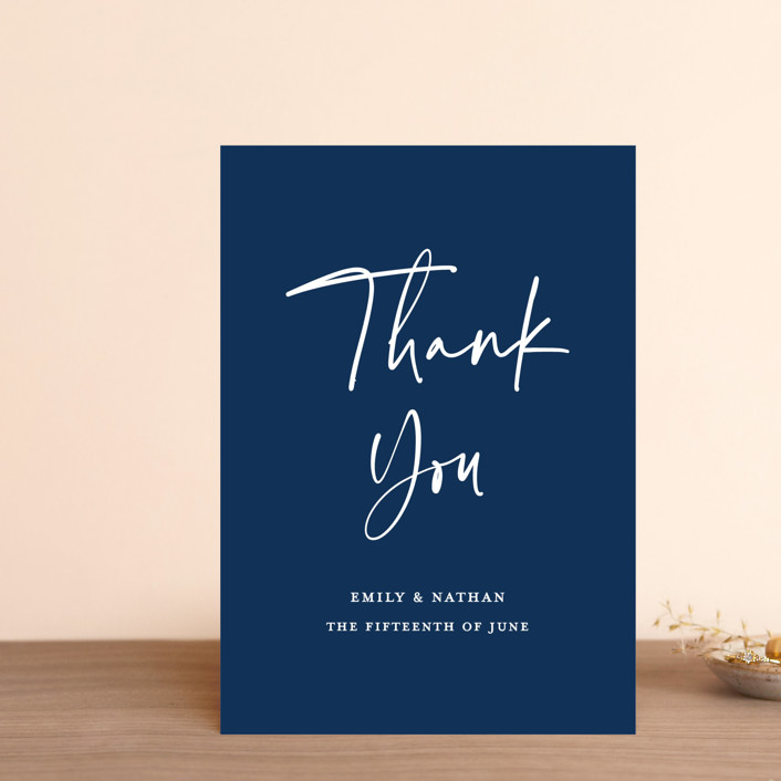 """""""Semi Formal"""" - Thank You Postcards in Navy by Paper Dahlia."""