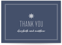 This is a blue thank you postcard by Sandra Picco Design called Down by the Sea printing on signature in postcard.
