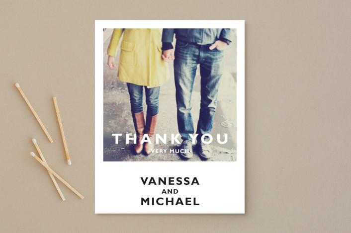 """Desenfadado"" - Thank You Postcards in Black by Aspacia Kusulas."